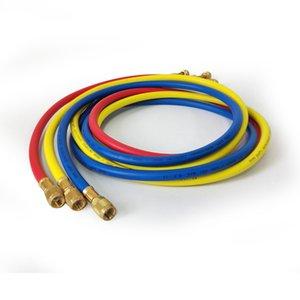 3pcs Fluoride Tube for R410a R22 R134a 800PSI er Refrigerant Manifold HVAC Air Condition Hose 3 color set