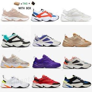 2021 الرجال النساء m2k tekno مكتنزة الأحذية أحذية رياضية أعلى جودة عالية البلاتين الشراع تينت أبيض الأزرق الجو البرقوق رمادي أسود الكاكي المدربين