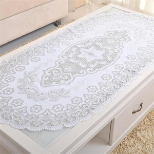 Mats & Pads Embroidered Tablecloth Golden Silver Organza Kitchen Tool Coffee Tea Place Mat Table Cover Party Tableware Decoration