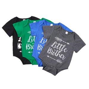 Bebek Bebek Erkek Giysileri Romper Kız Mektup Baskı Kısa Kollu Tulum Babys Tırmanma 100% Pamuk Yaz Kumaş ZYY878