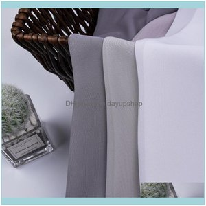 Deco El Supplies Home Gardentulle For Living Room Solid Color Modern Curtains Window Semi-Transparent Bedroom Curtain & Drapes Drop Delivery