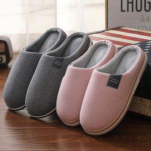 Зимняя пара хлопчатобумажные тапочки для внутренних помещений мужские и женские тапочки дома обувь теплые плюшевые мягкие нескользящие женские меховые тапочки