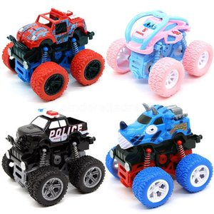 Inertial Pull Back Stunt Car Kid Truck Toys For Boys Off-Road Vehicles Four-Wheel Drive Model Baby Educational Children Toy CJ17