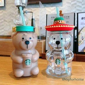 Starbucks mug limited edition web celebrity summer Latin American bear lovely glass drinking cup 503ml portable