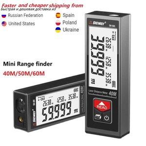 SNDWAY Laser Distance Meter Handheld Digital SW-B60M 50M 40M Laser Rangefinder Distance Build Measure Device Test Tool Mini USB 210719