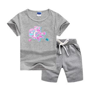 VS Brand Luxury Designer Baby Summers Clothing Sets Printing Logo Kids Boy Girl Short Sleeve T-shirts and Pants 2Pcs Suits Fashion Tracksuit