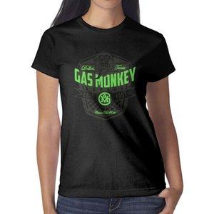 Мода женские газа обезьяна гараж 'Live Fast' Black Round шеи футболка персонализированные рубашки слоган американский танковый топ официально лицензирован