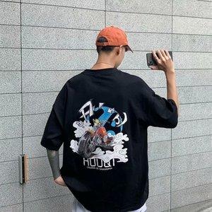 T-shirt da uomo allentato e versatile della t-shirt da uomo allentato e versatile