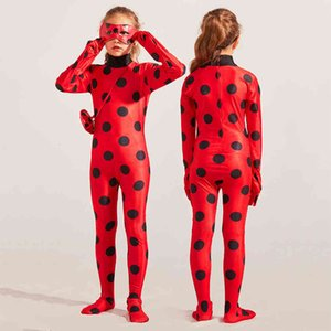 Anime Costumes Halloween Girls Cosplay Ladybug Marinette Black Cat Kid Jumpsuit Beetle Suit for Child Adult Women