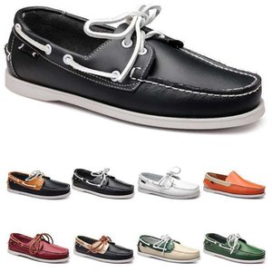 twenty one+ Mens casual shoes leather British style black white brown green yellow red fashion outdoor comfortable breathable
