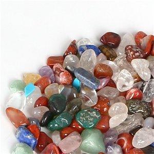 Оптовая 100 г смешанные упавшие камни кварцевые кристаллы натуральные природные драгоценные камни рок-минеральные кристаллы заживление Reiki садовое украшение 591 R2