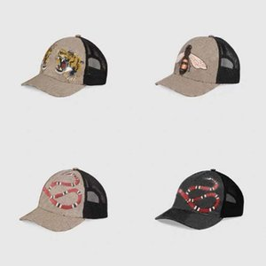 Design tiger animal hat embroidered snake man's brand Mesh hats men's and women's baseball cap adjustable golf sports3888 hh caps