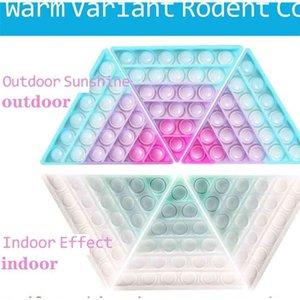 Ändert Farbe in der Sonne Push Pop Zappel Blase Poppers Board Toys Rainbow Sensory Poo Seine photochromischen Blasen Puzzle Stress Relief ADHD braucht G57WOE3