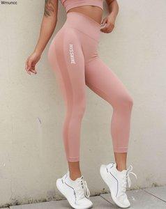 Wmuncc alta cintura sem costura yoga calças mulheres esportes legging magro macio fitness apertado fitness barriga controle yoga treino treino running z1125