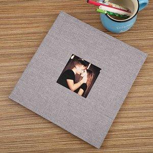 16-Inch 20 Pages Self Adhesive Photo Album DIY Rustic Wedding Photo Scrapbook Albums Memory Album Customize Memory Photo Album 210330