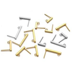 20 stücke Edelstahl Rechteck Hängen Ohrringe Pins Haken Block Ohrclip Handgemachte Zubehör Schmuckherstellung Erkundung Zubehör 1592 V2