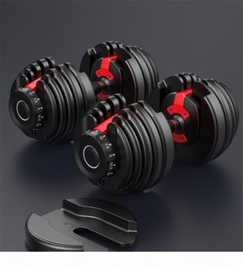 US Stock Adjustable Dumbbell 5-52.5lbs 24KG Fitness Workouts Dumbbells Weight Build Tone Your Strength Muscles Outdoor Sports Equipment