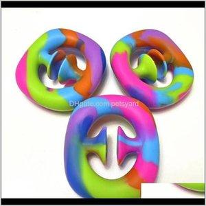 Favor Event Festive Party Supplies Home & Garden2022 Snap Popper Sile Hand Toy Snappers Toys Pop It Fidget Sensory Grip Ring 501 Z2 Drop Deli
