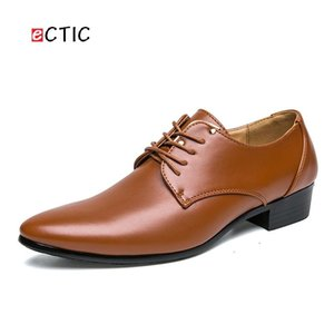 Chaussures habillées ECTIC BIG PLUS Taille 45 46 47 Mens Oxford Business Soft Casual Smart Appartements Smart Appartements Chaussure en cuir de bureau