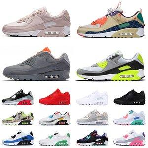 ayakkabı nike air max 90 airmax 90s Moss Yeşil erkek bayan büyük boy abd 12 koşu ayakkabısı Sneakers Supernova camo vert Glasgow açık yeni eğitmenler eur 46