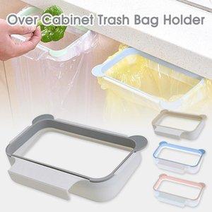 السنانير القضبان 2021 المحمولة البلاستيك القمامة شنقا حقيبة المطبخ القمامة تخزين الرف هوك تجوب وسادة الجافة الرف حامل الأورجانزي