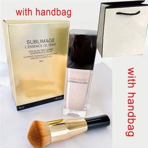 Brand Sublimage L'Essence de Teint Sorum Foundation BR12 BD01 2 Cores Essence Liquid Foundation com escova + bolsa