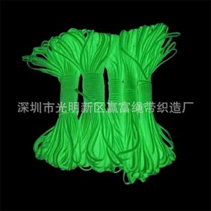 4 Colors Glow in the dark Luminous Paracord 550 100FT Cord Lanyard Rope 7 Strands Cores Outdoor Survival Wholesale 592 X2