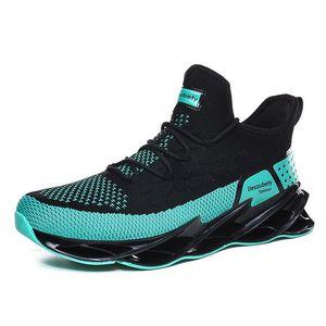 2021 Hommes Running Shoes Triple Noir Blanc Fashion Mens Hommes Femmes Trendy Grand Baskets Respirant Sports décontractés Sports d'extérieur Type4