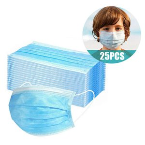 25pc Kids Disposable Mask Mascarillas Masque for Face Mascaras Mondmaskers Halloween Cosplay Forface
