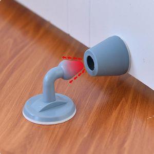 Bouchon de porte en silicone muet non-perforée Touchez Touch Sundries ménagères Mur de toilette Absorption Plug Anti-Bump Porte-Gate Résistance à la porte OWE5612