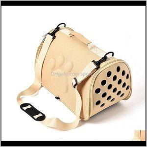 الكلب للكلاب القط قابلة للطي حاملة الحيوانات الأليفة قفص لطي جرو قفص حقيبة حمل أكياس الحيوانات الأليفة الإمدادات النقل شين اكسسوارات FCSU KQKN