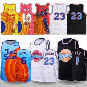 Космический джем 2 Баскетбол Джерси Байки Банни! Джеймс Тас 1/3 Tweety Turnes Squad 10 Lola Lebron 23 Michael 22 Bill Murray XX11 Men Kdis Jersey