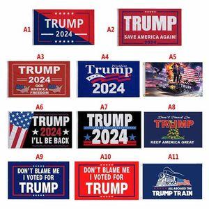 DHL US SSTOCK 3 * 5 FT Трамп Флаг 2024 Избирательные флаги Дональд Месть Тур 150 * 90см Banner BJ28