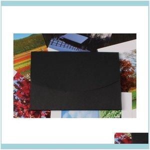 Packaging Packing Office School Business & Industrial50Pcs Vintage Blank Diy Mtifunction Kraft Envelope Postcard Box Black Package Paper 3 C