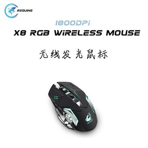 Mice Wireless Mouse RGB Bluetooth-compatible Computer Silent Mause Rechargeable LED Ergonomic For PC Laptop Gaming