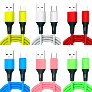 1m 3ft Colorful TPE Soft cables USB-C Type c Micro USb Cable For Samsung Huawei P30 P40 htc android phone pc