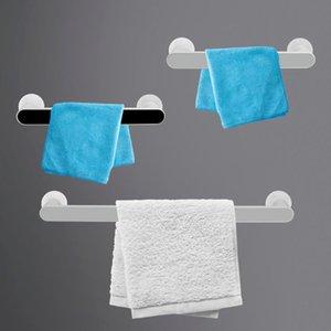 Towel Racks Wall Mounted Hanger Bar Self-adhesive Rack Kitchen Bathroom Shelf Organizer Accessories