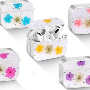 For Apple AirPods 1 2 3 Pro Real Cherry Blossom Case Wireless Bluetooth Earphone Cover Skin