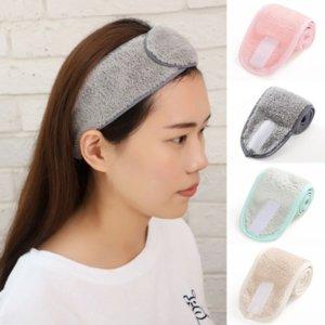 Yıkama Yüz Velcro Saç Tutucu Lady Hairbands Ayarlanabilir Makyaj Elastik Kadın Saç Bandı Yumuşak Havlu Banyo Kozmetik Bantlar Kadınlar Kız Aksesuarları için