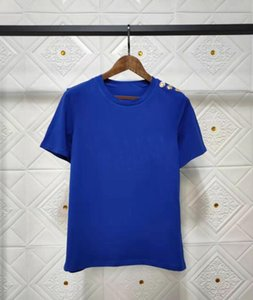 Gold Buttons Golds Letters Womens T shirts Short sleeve fashion Summer cool woman tshirt for man Cotton Soft Breathable female t-shirts femmina Maglietta