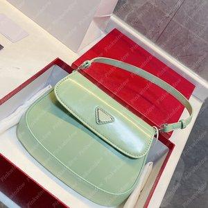 Frauen Umhängetaschen Handtasche Frauen Luxurys Designer Taschen Rucksack Totes Cleo mit Klappen gebürstet Leder Designer Geldbörsen Brieftasche 2104132l