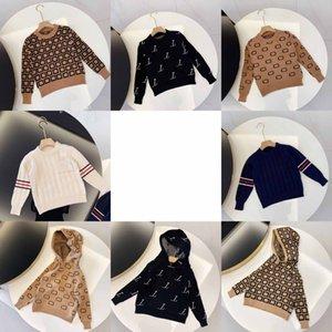 Kids Fashion Sweaters Boys Girls Unisex Baby Pullover Autumn Winter Sweatshirts Children Keep Warm Letter Printed Sweater Jumper Clothing 8 Styles