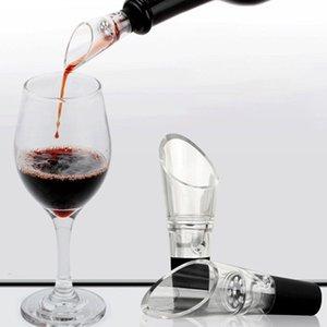 Akrilik Beyaz Şarap Havalandırıcı 360 Derece Dönen Şarap Pourer Şişe Tıpa Taşınabilir Şarap Aksesuarları Bar Araçları