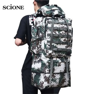 100L Military Molle Army Bag Camping Backpack Tactical Large Backpacks Hiking Travel Outdoor Sports Bags Rucksack Mohila XA658WA Y200920