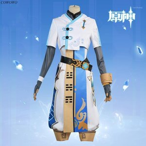 Anime Costumes Anime! Genshin Impact Chongyun Game Suit Handsome Uniform Cosplay Costume Halloween Carnival Party Outfit For Unisex 1 18F0