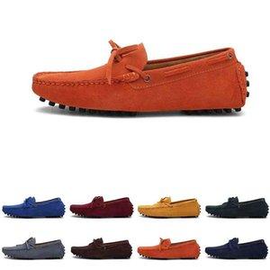 Мужчины Повседневная Обувь Espadriilles Трехместный Черный ВМФ Браун Вина Красный Зеленый Хэки Оранжевые Мужские кроссовки Открытый Безгигание Прогулки три
