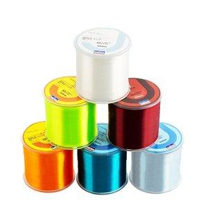 Braid-Linie Super starke Fischerei-Durable Multiple Farben 500m Monofilament Nylon 2-35LB Tackle-Zubehör