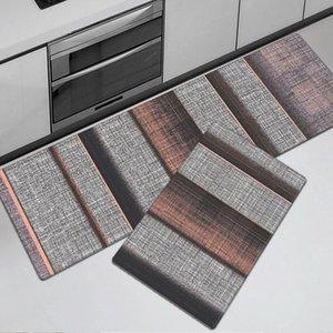 Carpets PU Leather Kitchen Mat Waterproof Oilproof Floor Anti Fatigue PVC Living Room Carpet Slip Doormat Bedroom Rug