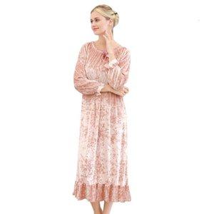 Plus size sleeping dress autumn winter pijama female nightgown night dress women nightwear lingerie sexy princess sleepwear 2021