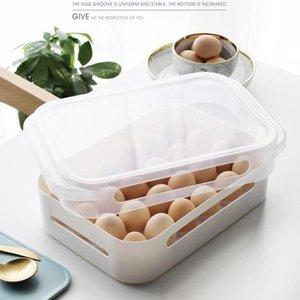 Storage Bottles & Jars Food Refrigerator Household 24 Egg Tray Plastic Holder Box Clothes Container Kitchen Fridge Cabinet Organizer